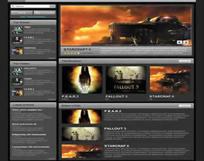 游戏网页模板(html格式)