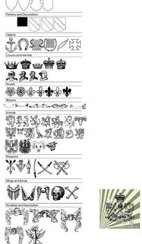 欧美古典花纹元素