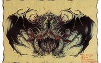 黑龙彩色手绘纹身图案