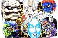 人物头像彩色手绘纹身图案