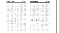 笔记本内页和日历(2010年-2013年)