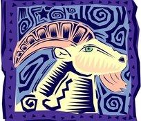 拉丁风情:墨西哥手绘星座矢量素材-白羊座