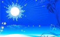 耀眼的太阳矢量图