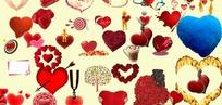 心形素材 心型素材 情人节素材