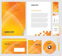 橙色企业VI模板元素矢量素材