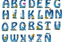个性卡通字母
