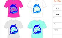 精品男T恤-鲨鱼