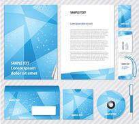 蓝色企业VI模板元素矢量素材