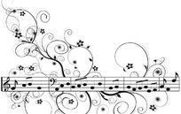 音乐花纹矢量素材