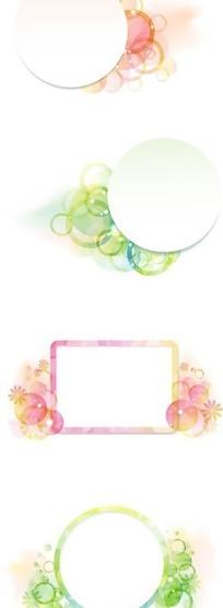 花朵 花框 花纹花边