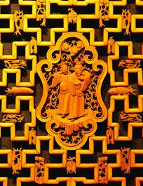 金色镂空雕花隔断