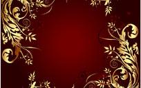 典雅金色装饰框花边