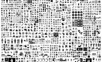 1000多个黑白灰图形图案矢量素材