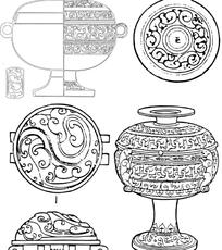 古典器皿纹样