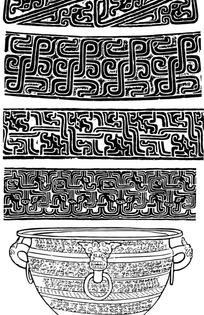 古典青铜器皿纹样