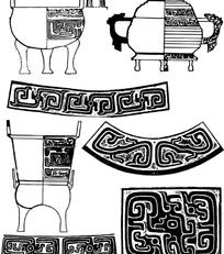 古老器皿装饰纹样