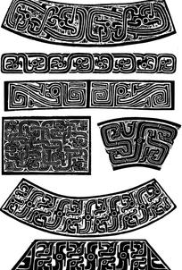 中国经典古青铜器皿纹样