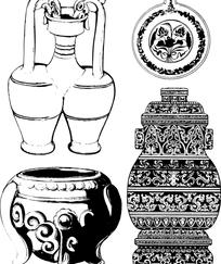 中国经典器皿纹样素材