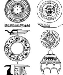 中国经典纹样素材-古典器皿