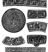 中国经典纹样素材-古典器皿纹样