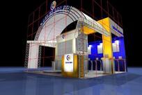 电子商务公司展厅效果图3D模型