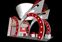 海利制冷设备展厅效果图3D模型