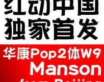 华康POP2W9简体