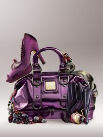 时尚紫色女包和女鞋