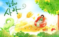 韩国卡通儿童素材