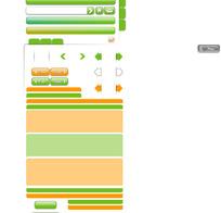 网页设计元素矢量素材-装饰、按钮、导航条