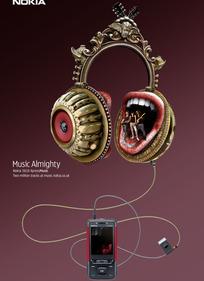 诺基亚音乐手机创意海报