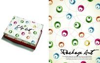 时尚墨迹工艺品包装盒