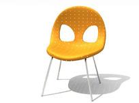 橙色餐桌椅3D模型