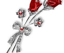 红色玫瑰闪烁动画