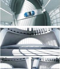 3D建筑场景模型(含帖图)