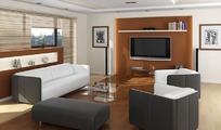 现代风格室内模型带贴图灯光