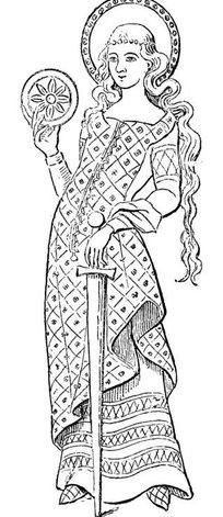 古代线描人物—孟仪矢量图图片
