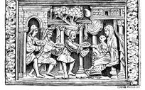 欧州古代人物雕刻图案素材