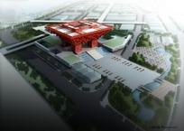 俯瞰世博会中国馆