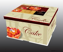 通版蛋糕盒子设计