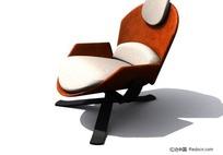 橙色时尚椅子3D模型