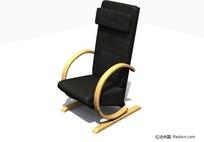 黑色靠椅3D模型