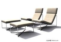 舒适的休闲靠椅3D模型