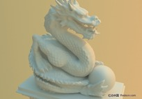 雕刻龙3D模型