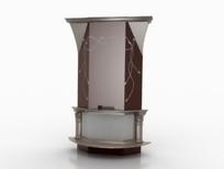 现代风格壁炉3D模型