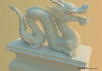 中国龙雕刻三维模型
