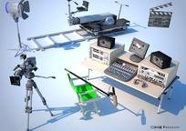 电影摄影设备3D模型_max.2009