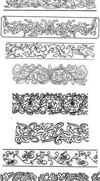 边框浮雕纹饰花纹