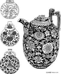 瓷器茶壶纹饰