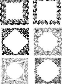 方形花饰边框